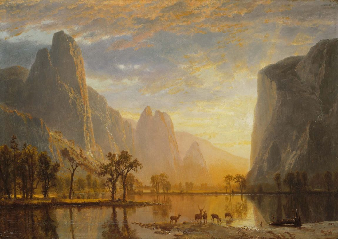 Bierstadt, Albert: Valley of the Yosemite. Fine Art Print/Poster. Sizes: A4/A3/A2/A1 (4322)